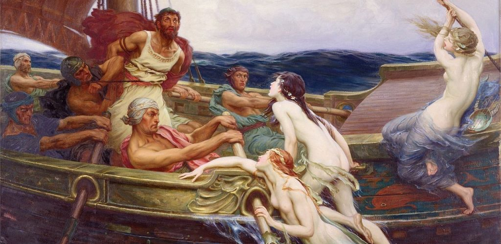 Ulysses and the Sirens 1910 The Bridgeman Art Library