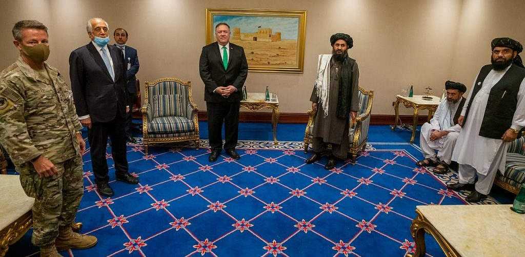 U.S. Secretary of State Michael R. Pompeo meets with the Taliban Delegation in Doha Qatar on September 12 2020 by U.S. Department of State