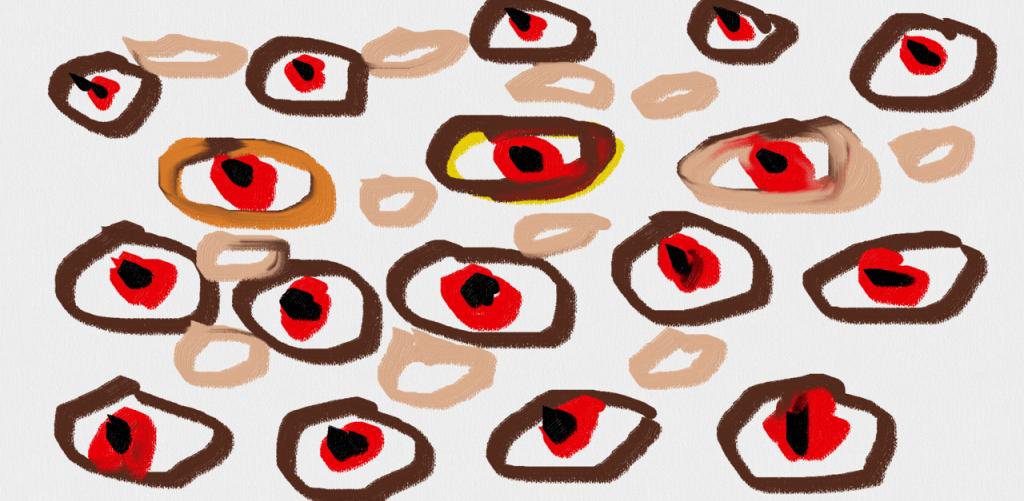 Art brut fait par un schizophrene paranoide Thomas Zapata