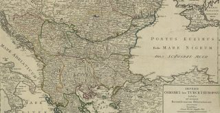 1820 map of the Ottoman Empire in Europe