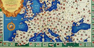 The National Savings Picture Map of the Continent of Europe 1946 The National Archives UK