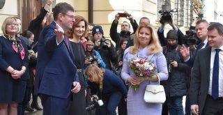 Slovenska prezidentka Zuzana Caputova na navsteve Brna pri prilezitosti oslav 100. vyrocia Ustavnej listiny CSR Matej Grochal