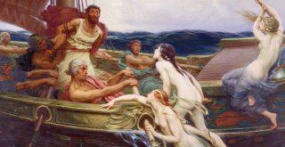 Ulysses and the Sirens 1910 The Bridgeman Art Library